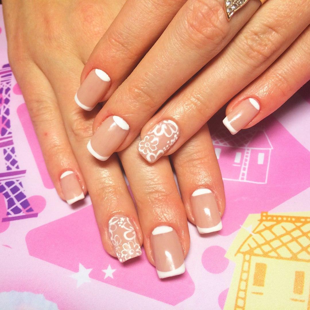 Красивые ромашки на ногтях фото