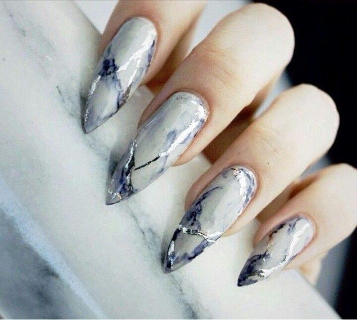 Маникюр на длинные ногти с фото