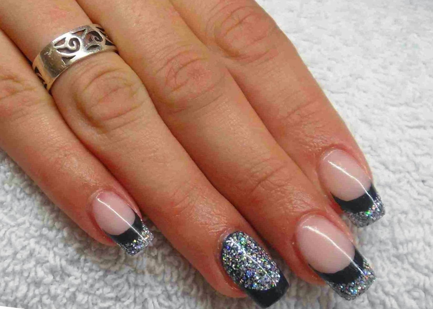 Дизайн ногтей фото с серебром