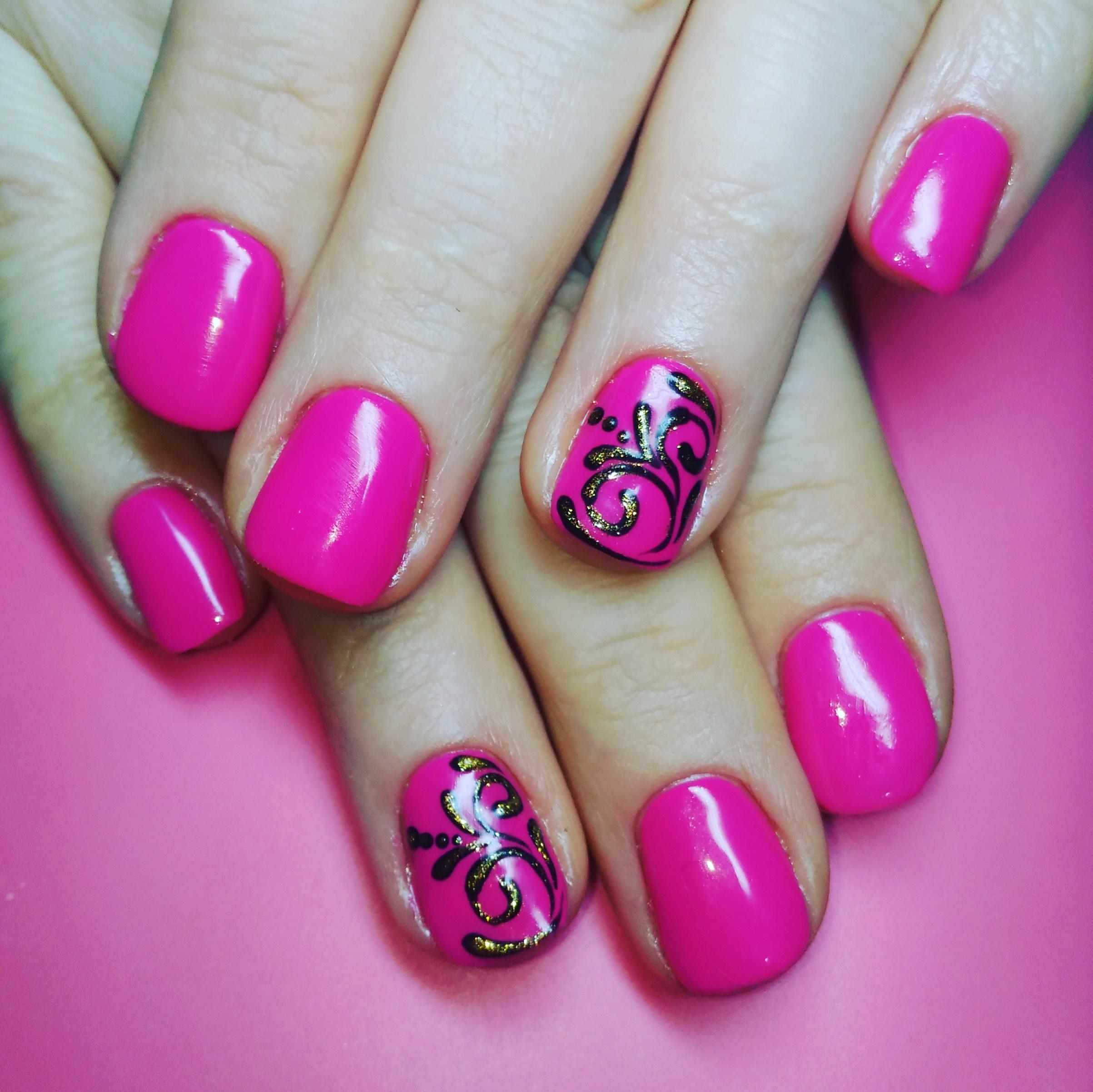 Шеллак Бело Розовый Дизайн