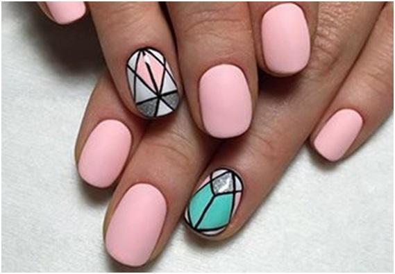 Модный маникюр 2017 на короткие ногти гель лаком