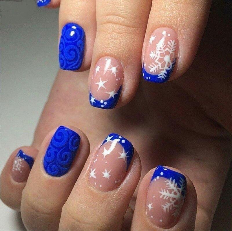 Дизайн ногтей 2017 новинки голубые