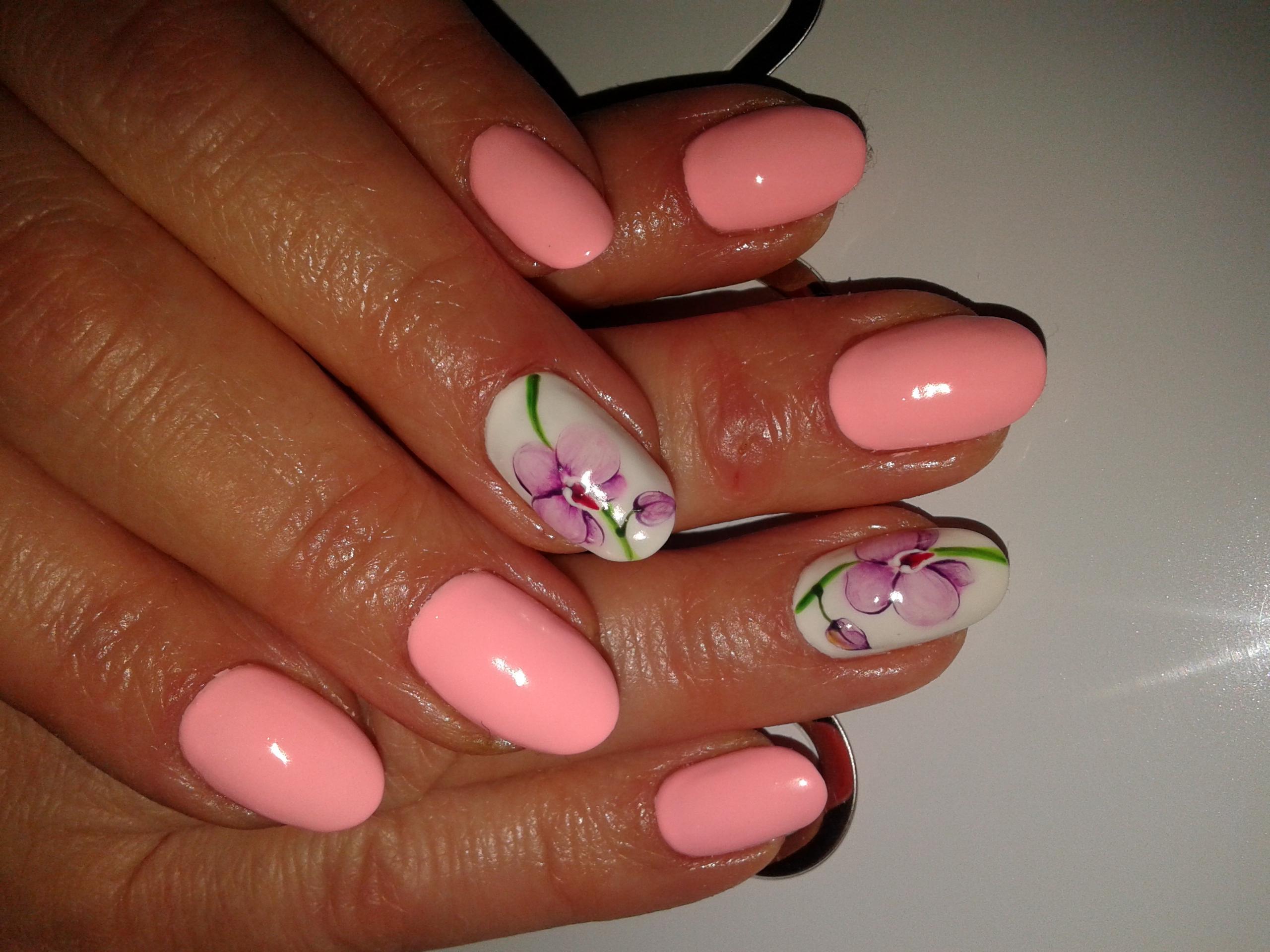 Ногти акварельная роспись фото