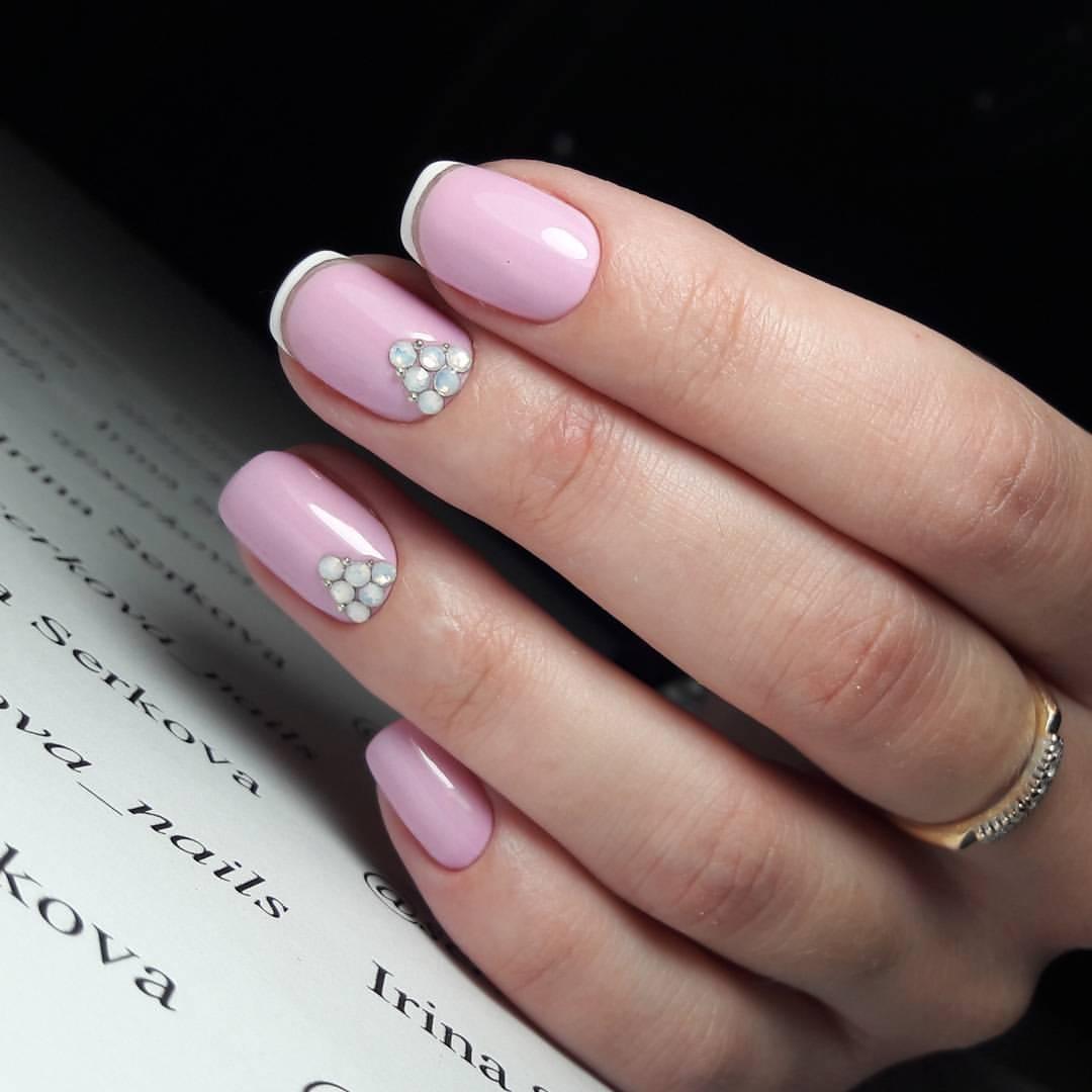 Красивый Розовый Маникюр Фото Самый Шикарный