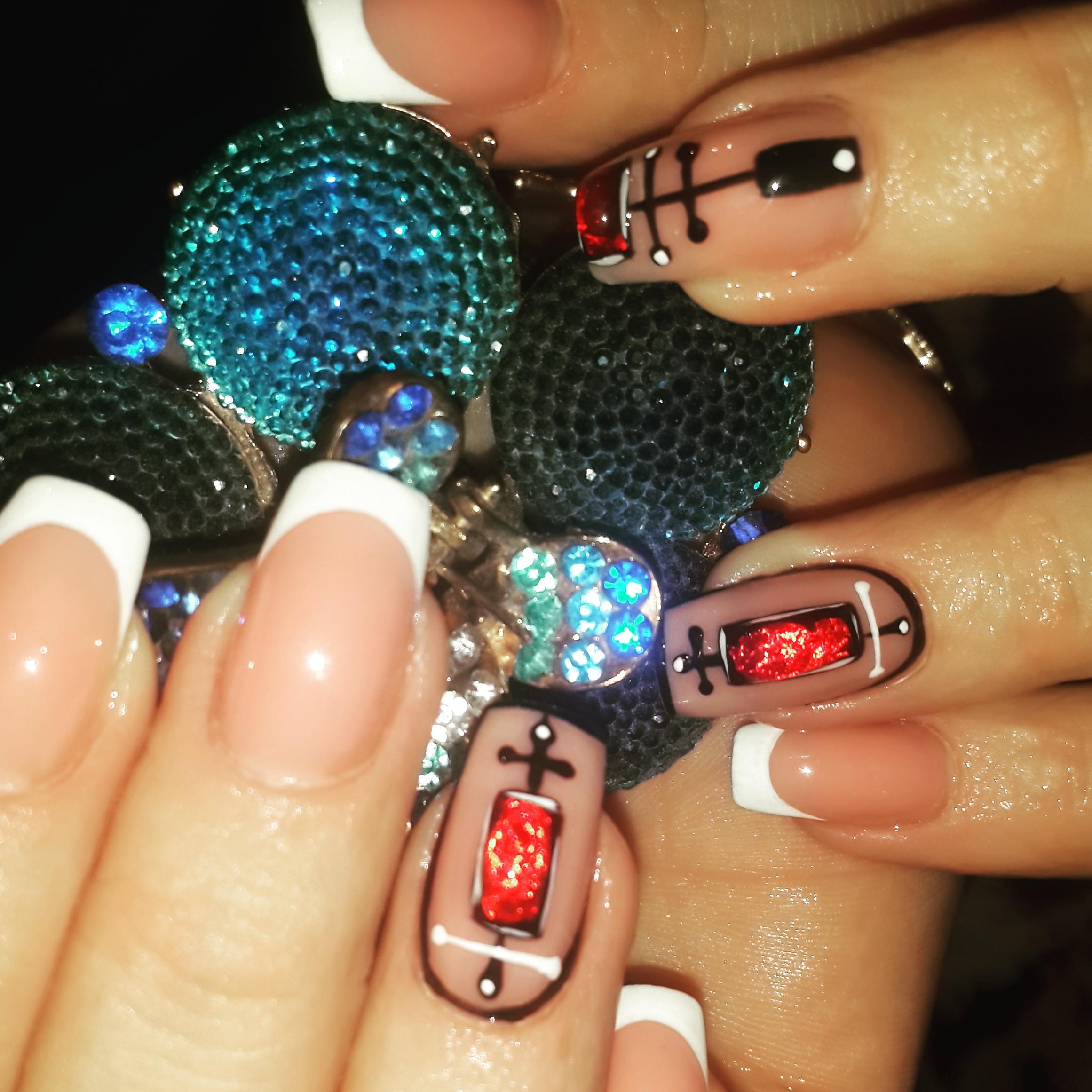 Дизайн ногтей жидкими камнями фото