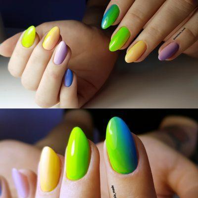 Яркий многоцветный летний градиент