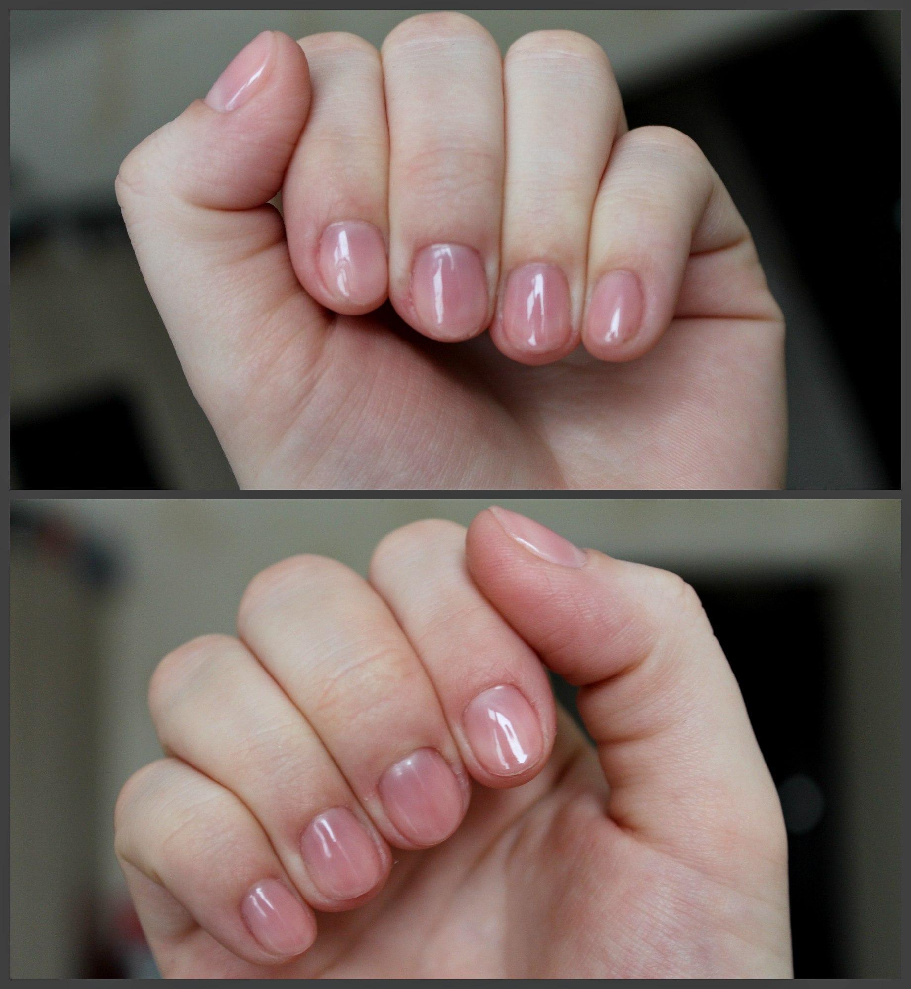 Гель-лак натурального цвета для коротких ногтей