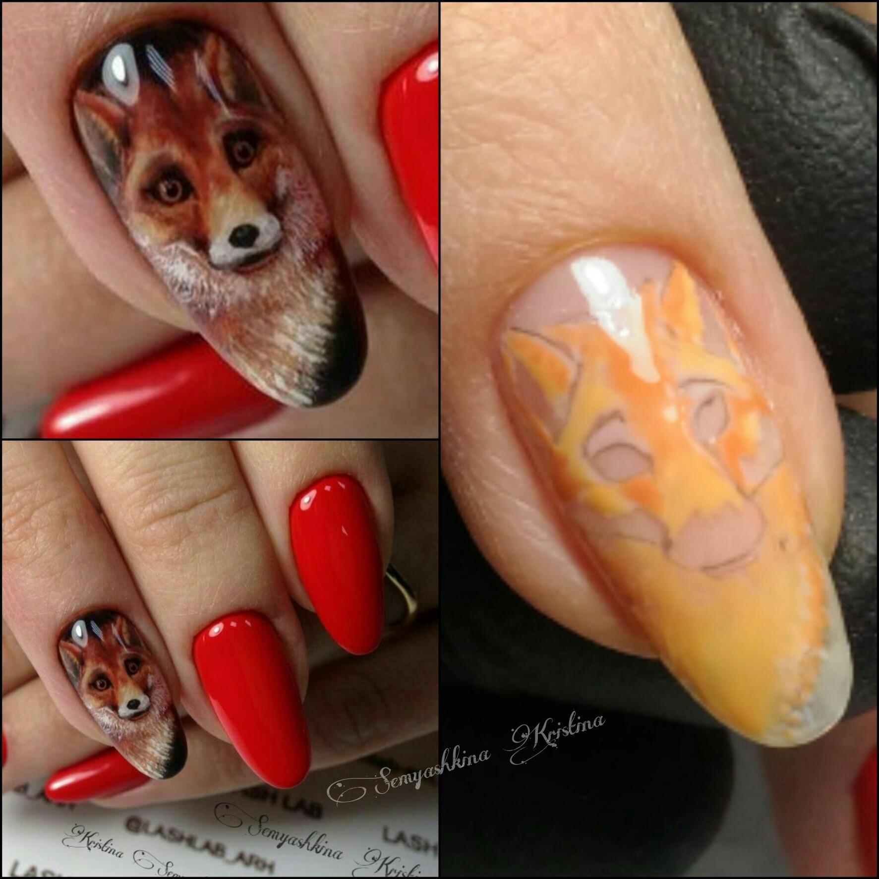 Белочка на ногтях фото