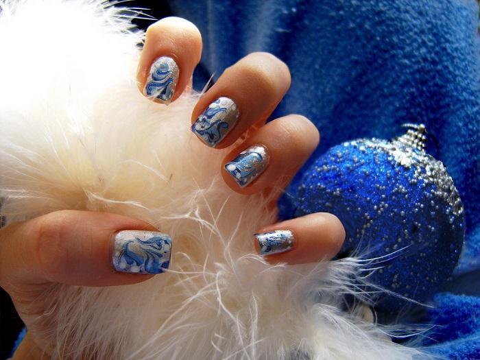 Маникюр для ногтей для зимы