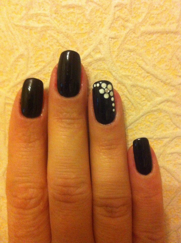 Черные ногти своими руками 130