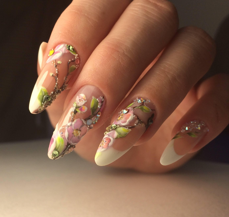 необычное наращивание ногтей фото