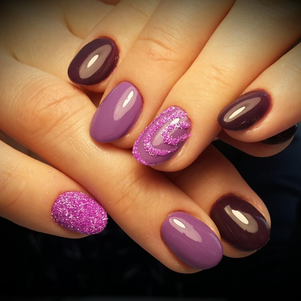 Дизайн ногтей цвет сиреневый