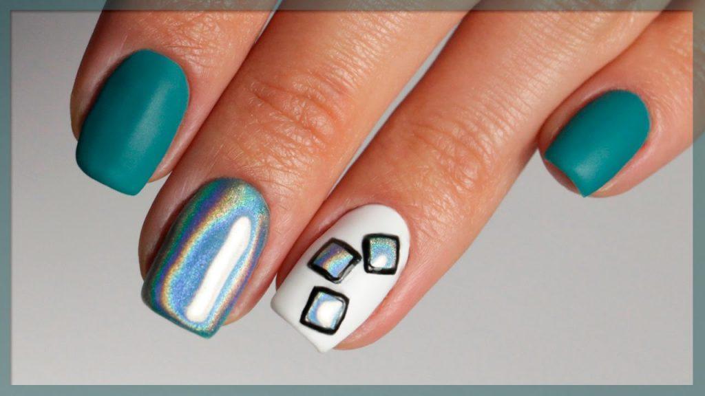 Дизайн ногтей на короткие ногти втирка