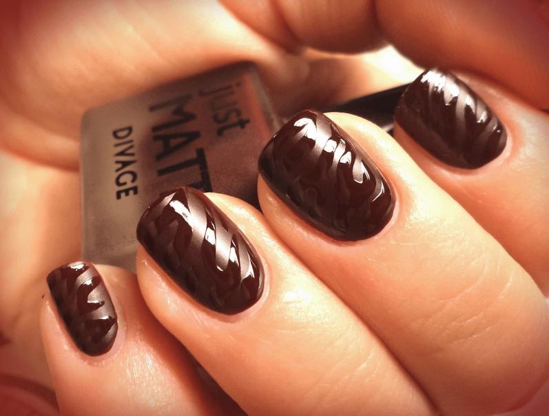 Дизайн ногтей шоколадного цвета