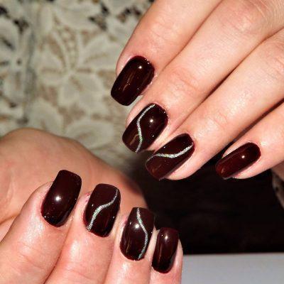 Горький шоколад для длинных ногтей