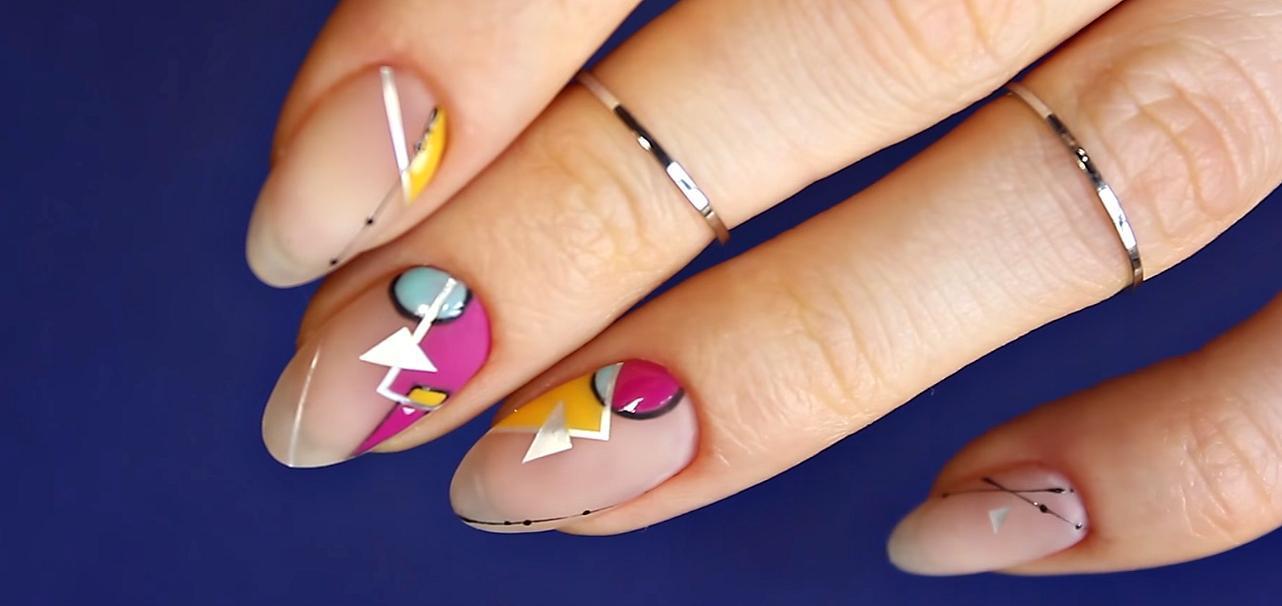 Дизайн ногтей геометрия 2017 новинки