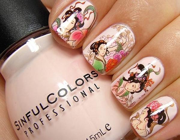 Маникюр с наклейками - фото идей дизайна ногтей - Best Маникюр
