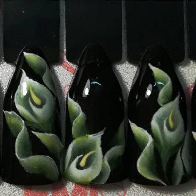 Китайская роспись в темных тонах