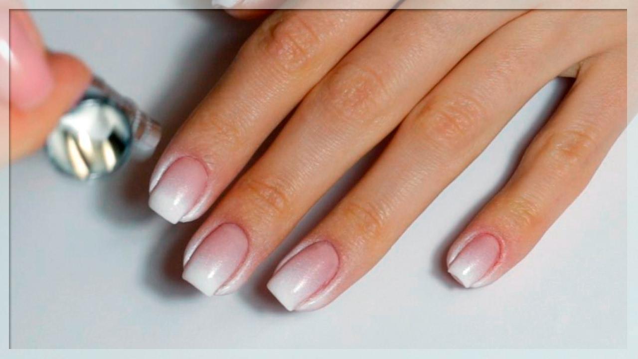 Пример дизайна ногтей градиент