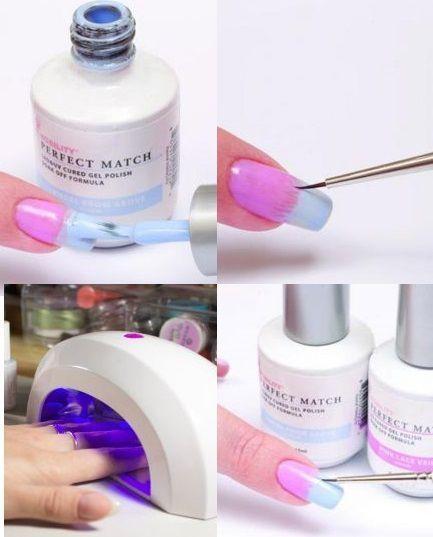 Дизайн ногтей градиент гель лаком