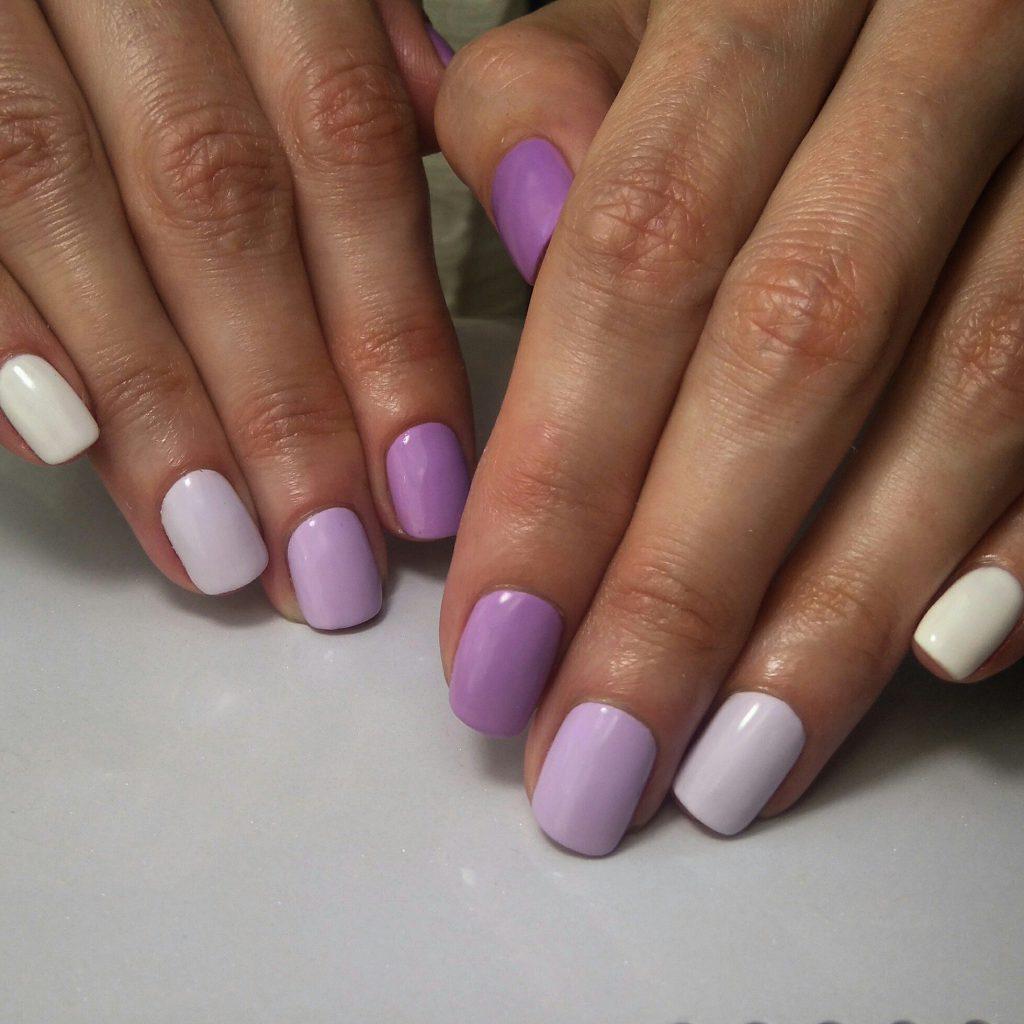 Простой дизайн ногтей градиент