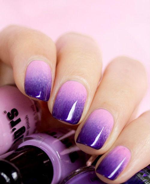Градиент дизайн на ногтях
