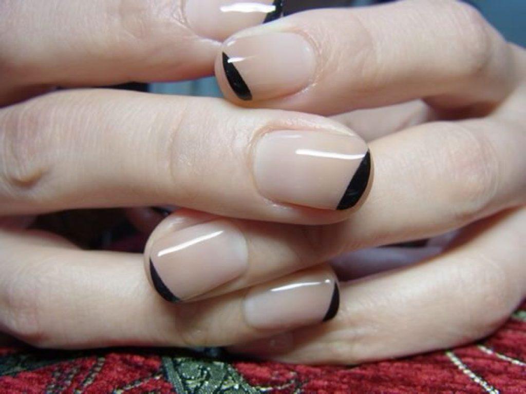 ногти французский маникюр фото