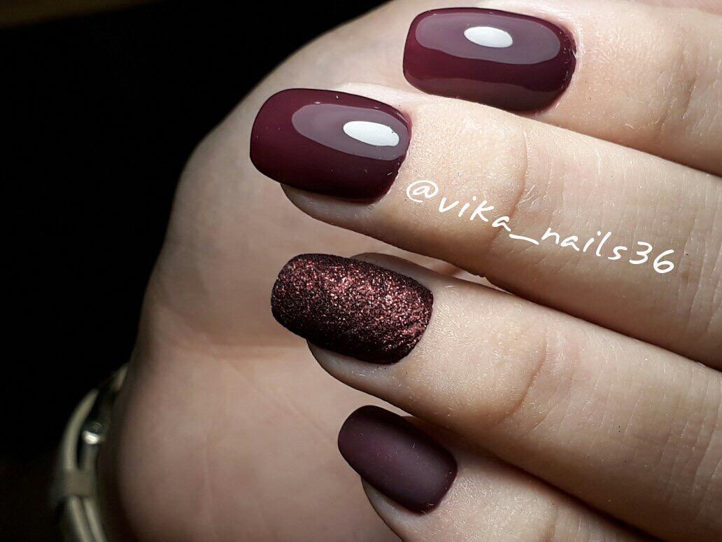 Дизайн ногтей фото вишневого цвета
