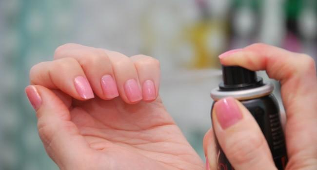 Как сушить лак на ногтях спреем