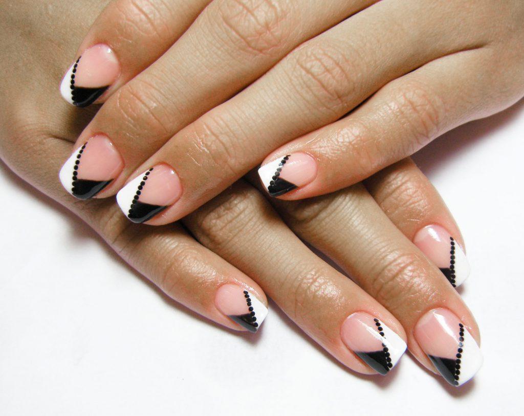 Маникюр с френчем фото квадратные ногти