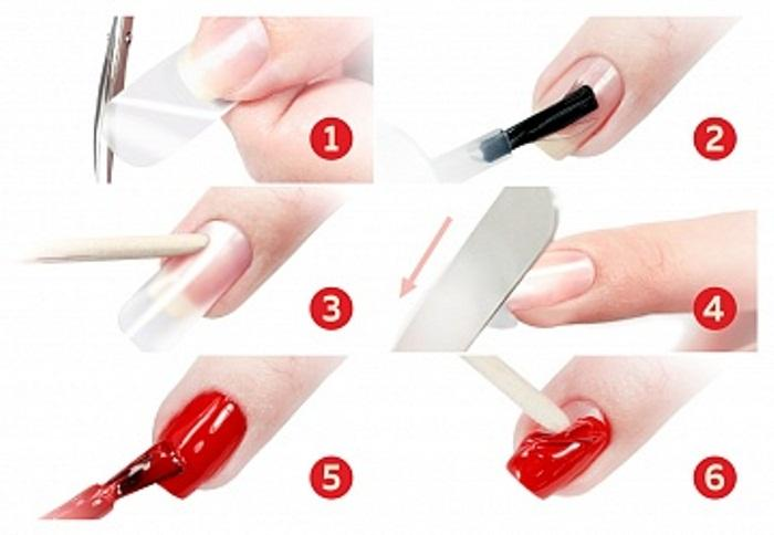 Результат использования силиконовой базы для ногтей