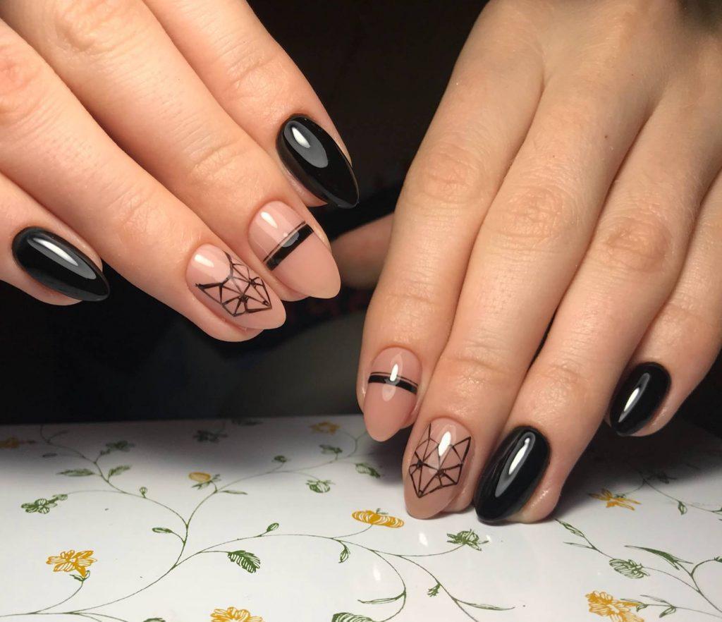 Ногти в контакте фото черные