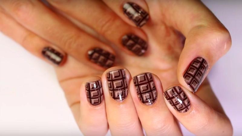 шоколадный дизайн в клетку