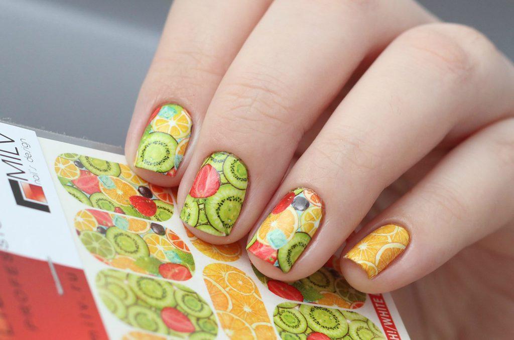 фруктовый маникюр со слайдерами