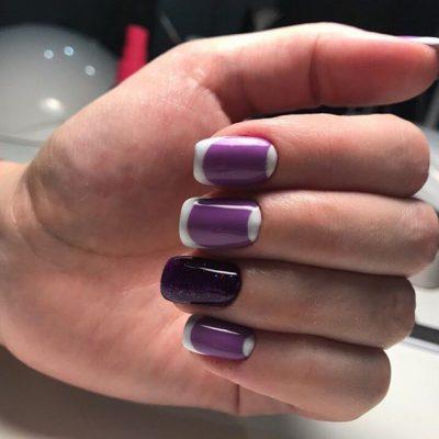 Фиолетовая красота с белым френчем