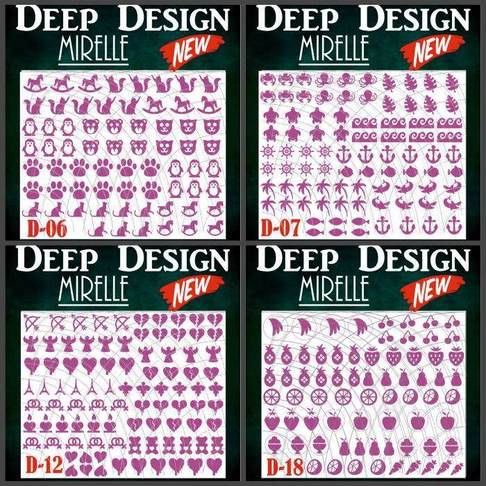 трафареты для дип дизайна