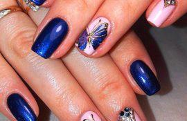 Как нарисовать бабочки на ногтях?