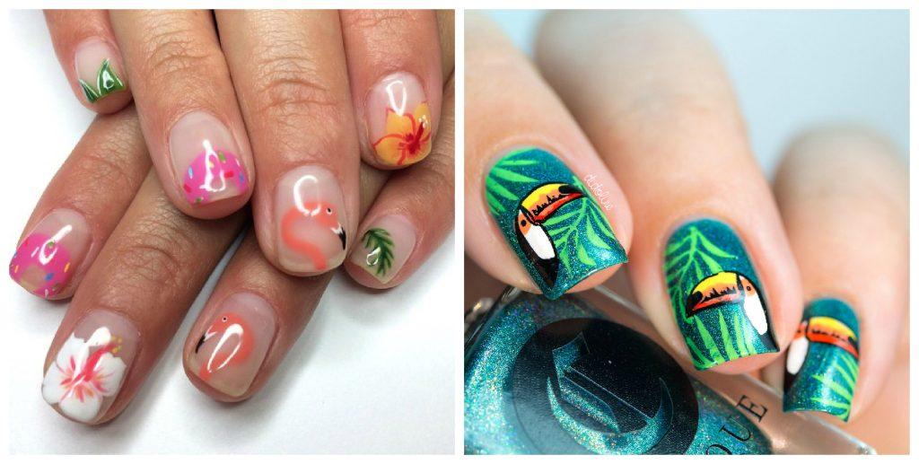 тропический дизайн ногтей