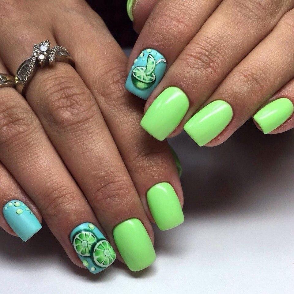 идеи для неоновых ногтей
