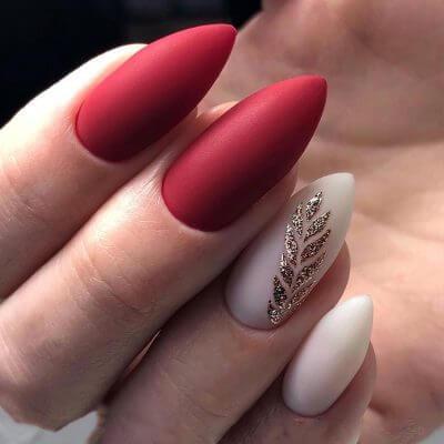 Матовый маникюр на длинные ногти