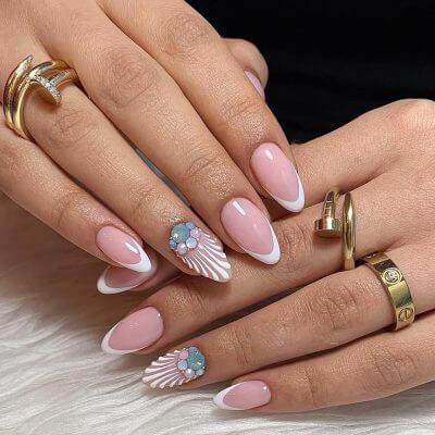 Френч для миндальной формы ногтей