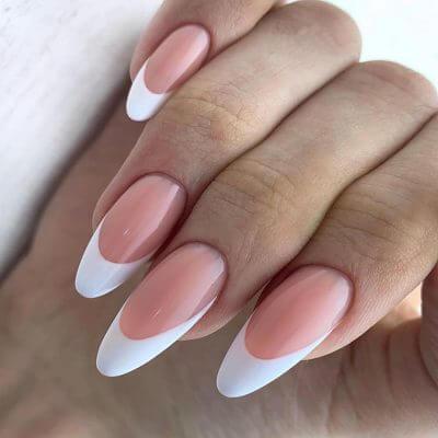 Френч на длинные ногти