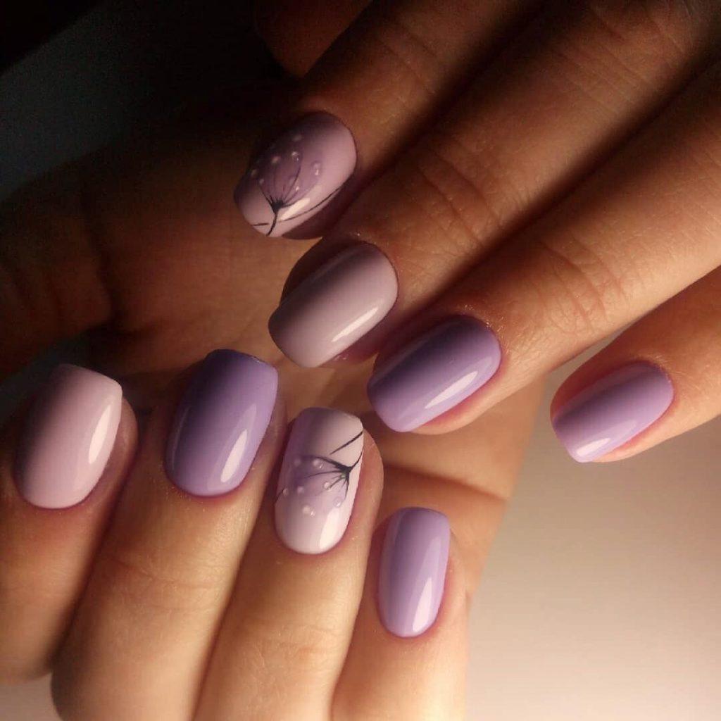 Дизайн на весну в оттенках фиолетового