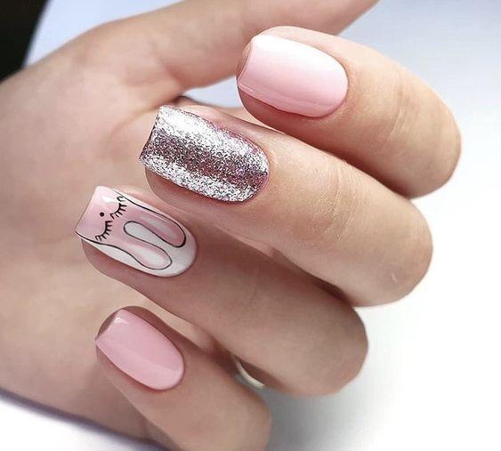 Классный дизайн ногтей розовый