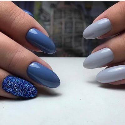 Двухцветный дизайн с блестками