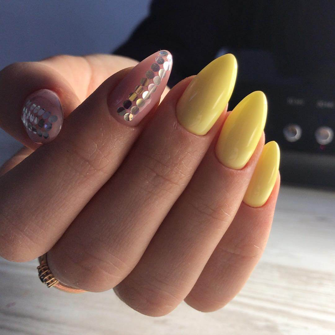 Шикарный дизайн в желтом цвете
