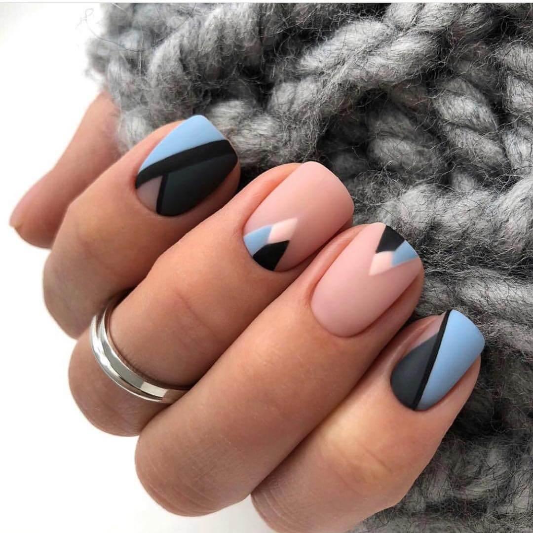 геометрия на ногтях весной
