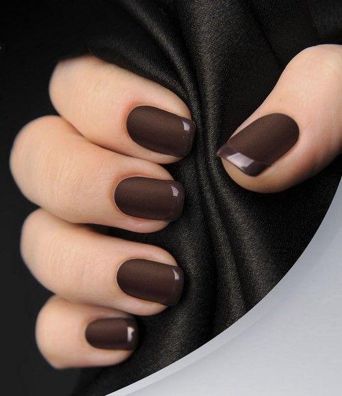 Маникюр шоколадного цвета