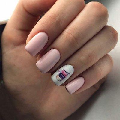 Необычный дизайн ногтей розовый макоронс