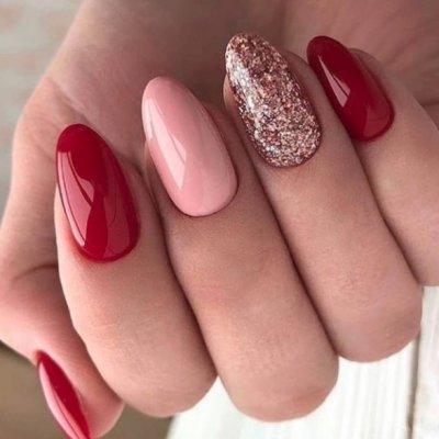 Красный, розовый и блестки